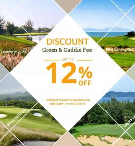 Discount from 10% on Green & Caddie Fee