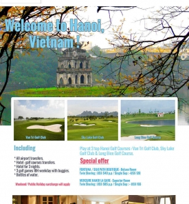 Hanoi Golf Package Promotion From US$ 540