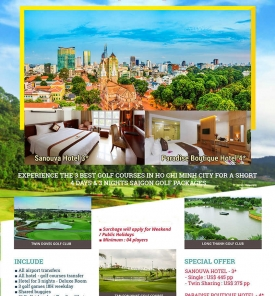 Saigon Golf 4D3N Special Offer From US$ 375