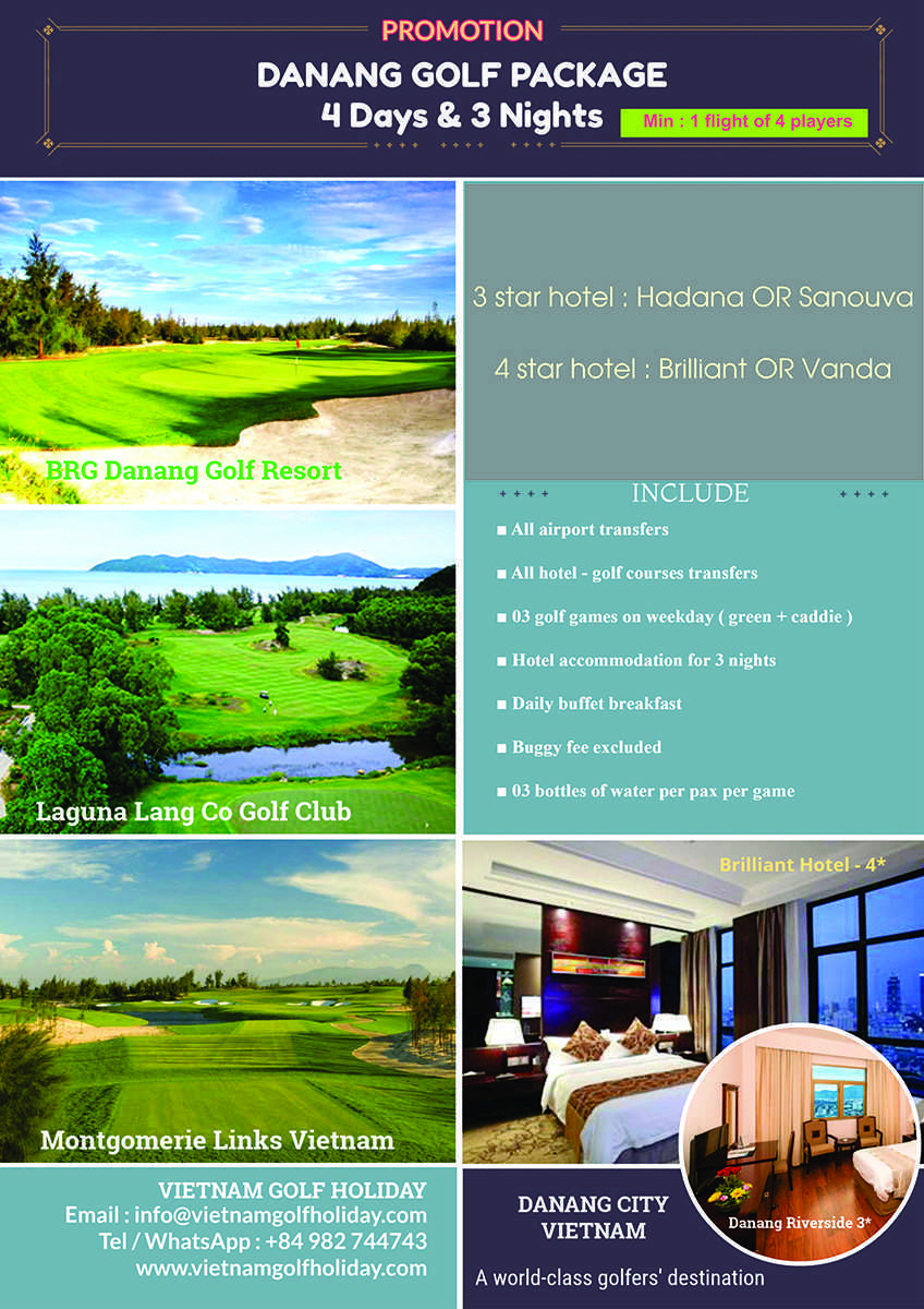 Danang golf package 4 days & 3 nights promotion