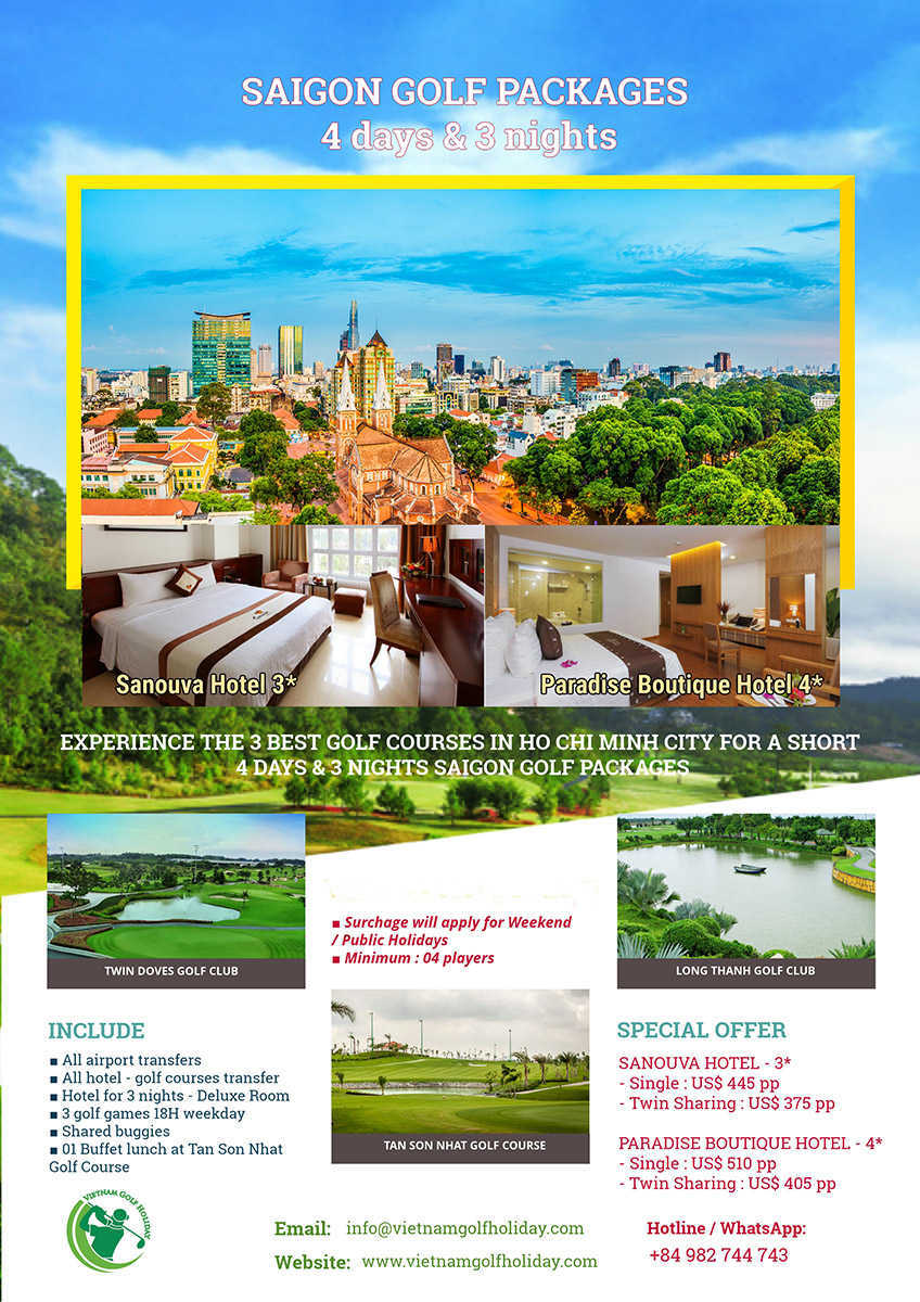 Saigon Golf Package 4 days & 3 nights